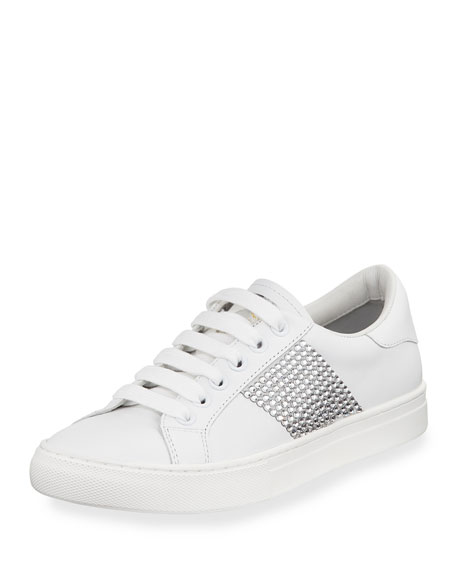 Empire Embellished Leather Sneakers - White Marc Jacobs T3l7G