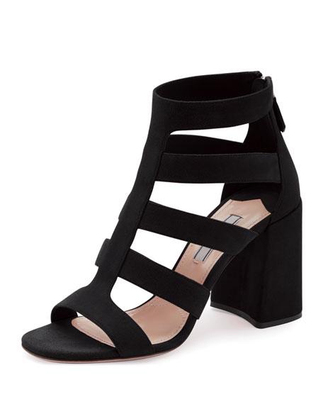 Suede Multi-Strap Sandal