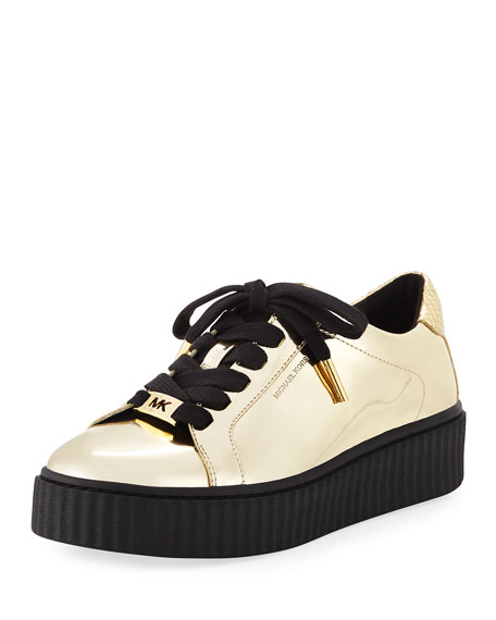 Trevor Lace-Up Metallic Platform Sneaker