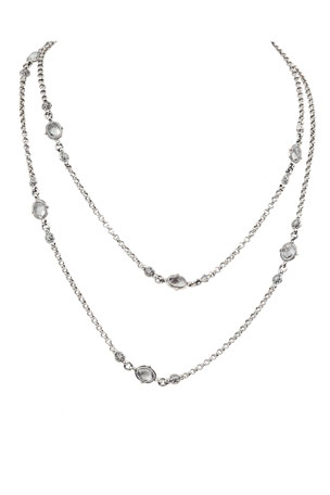 Konstantino Pythia Crystal Oval Station Necklace
