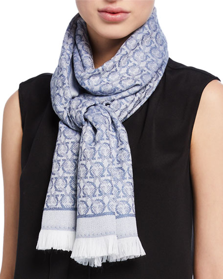 Image 1 of 2: Sr The Gancini Wool Scarf