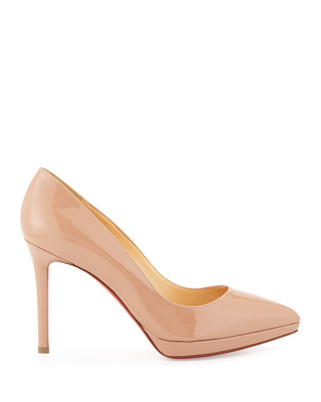 Image 2 of 3: Pigalle Plato Patent Red Sole Pump