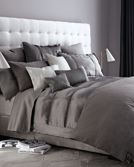 Donna Karan Home Reflection Standard Quilted Silk Sham