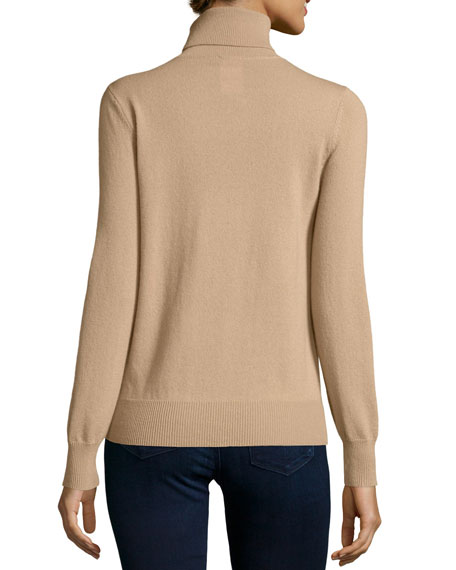 Classic Long-Sleeve Cashmere Turtleneck, Plus Size