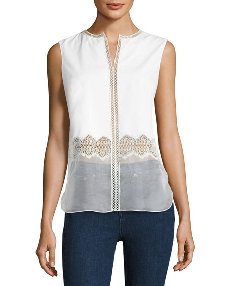 Karma Sleeveless Paneled Blouse