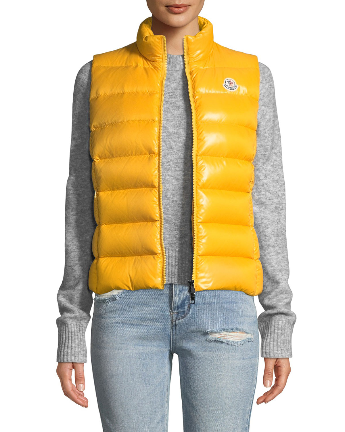 5c9bc04ed Ghany Shiny Quilted Puffer Vest