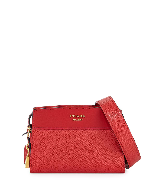 fe4c20fd71c6e5 Prada Esplanade Saffiano Crossbody Bag | Neiman Marcus