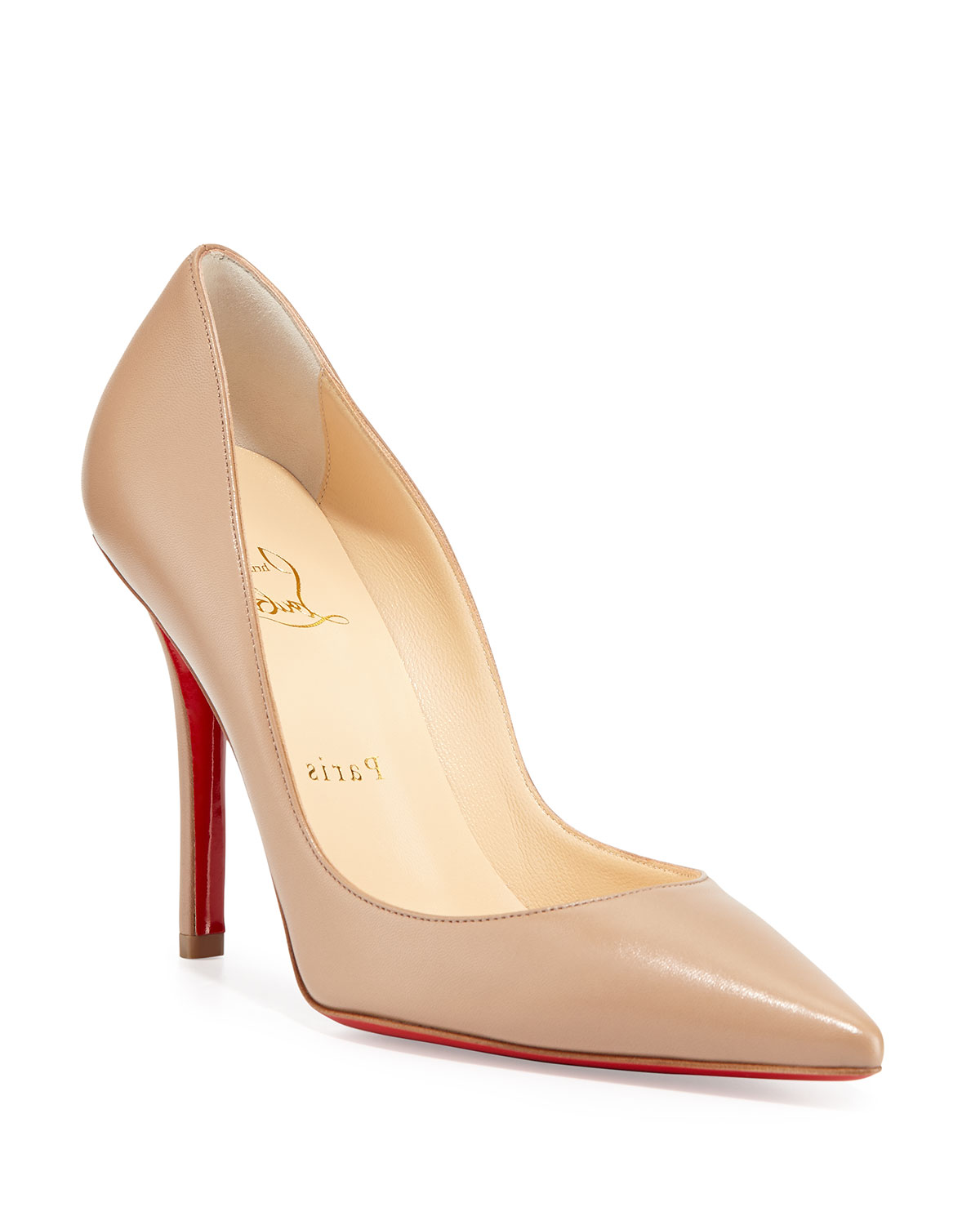 1797729f9b Christian Louboutin Apostrophy Pointed Red-Sole Pump | Neiman Marcus