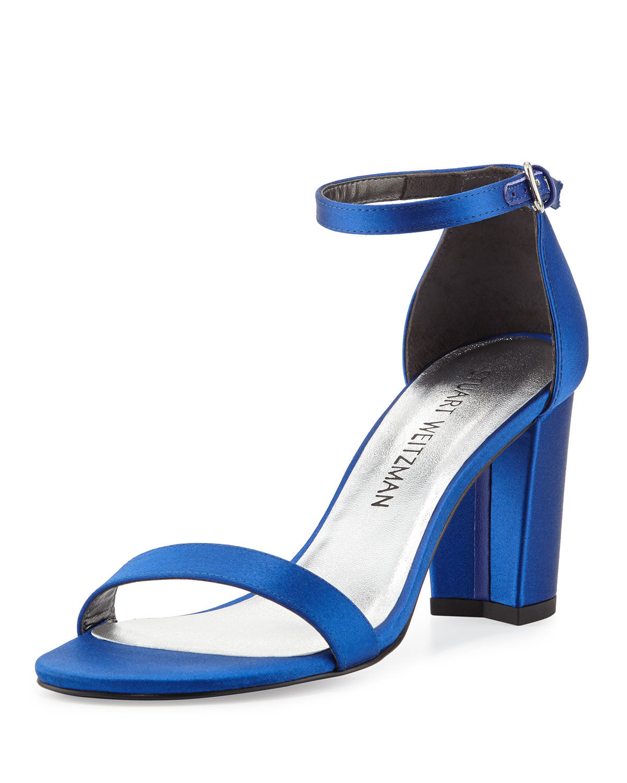 97c24ba0b50 Stuart Weitzman Nearlynude Satin City Sandals