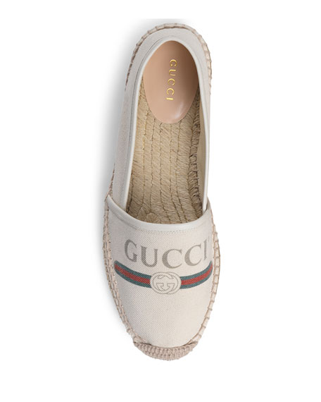 Gucci Shoes Gucci-Print Canvas Espadrille