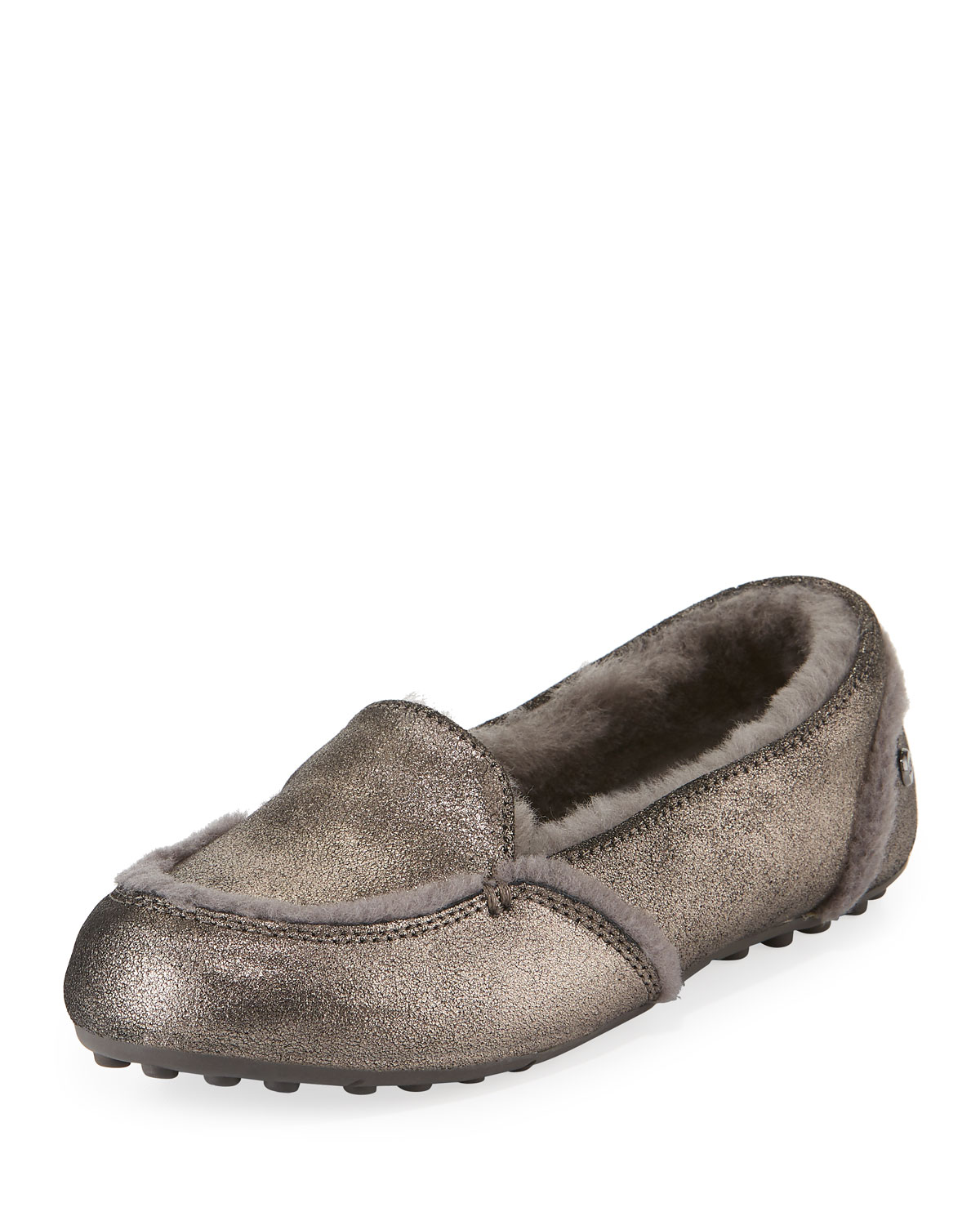 d346635b102 Hailey Metallic Fur-Lined Indoor/Outdoor Slippers