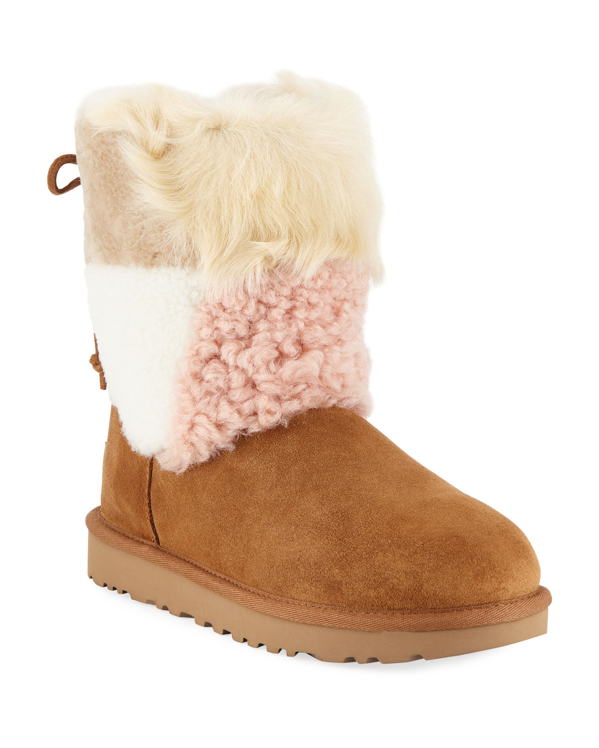 0cfbeee8964d UGG Classic Patchwork Fluff Boots