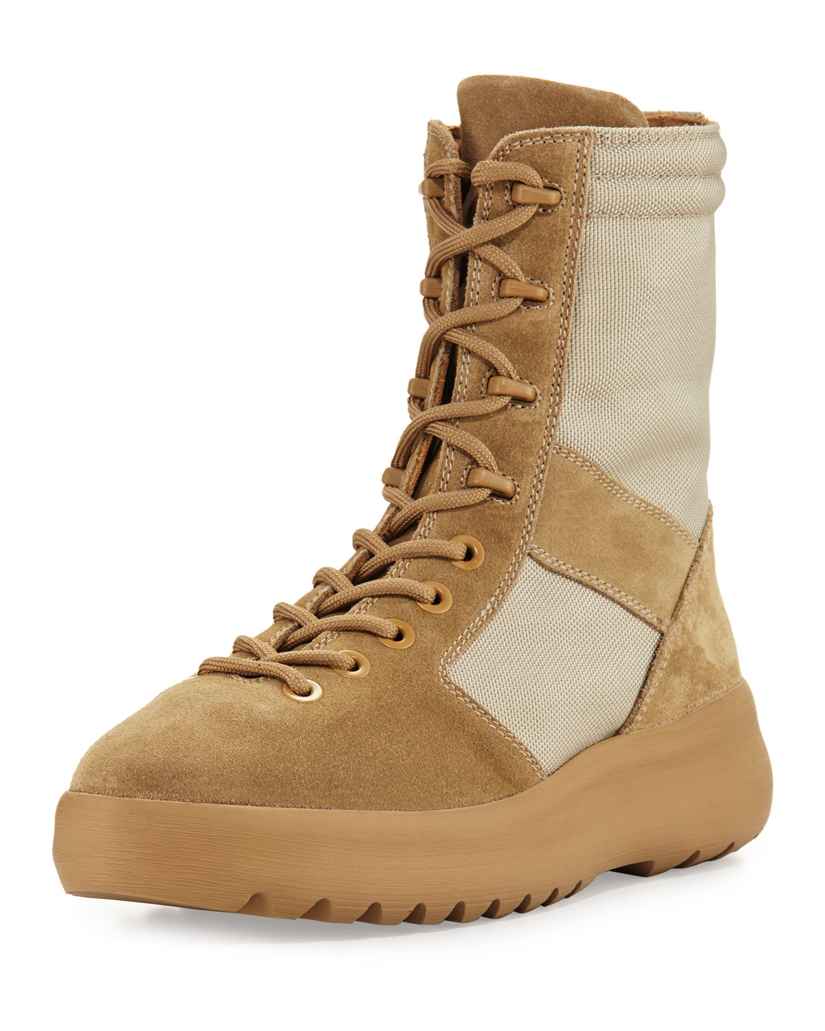 658df050d Yeezy Men s Leather   Textile Military Boots