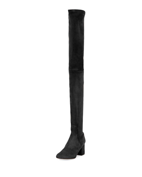 Stretch Suede Over-The-Knee Boot