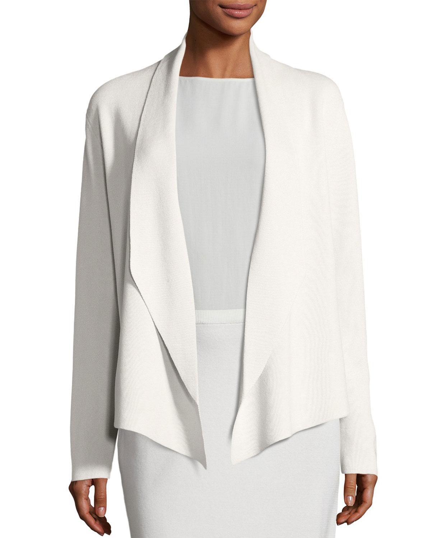 d98316ae7b1 Eileen Fisher Shawl-Collar Draped Knit Jacket