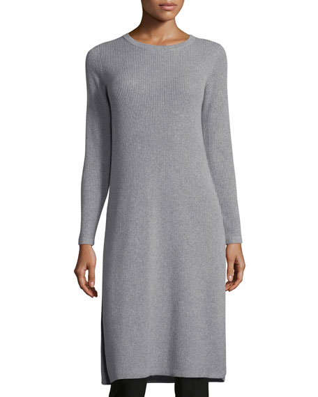 Eileen Fisher Long-Sleeve Ribbed Cashmere Drama Tunic