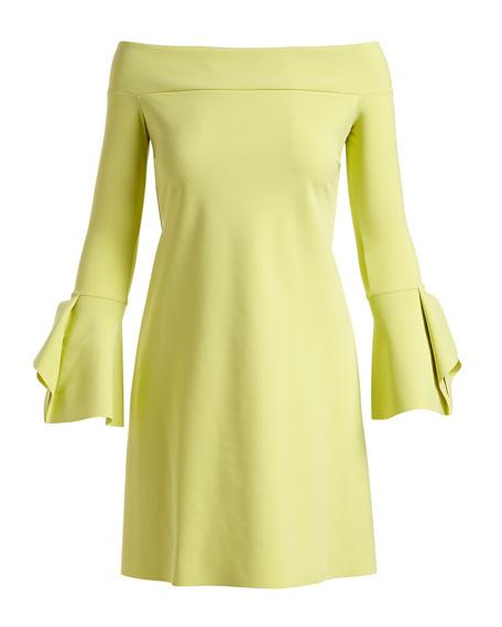 Berit Off-the-Shoulder Mini Cocktail Dress