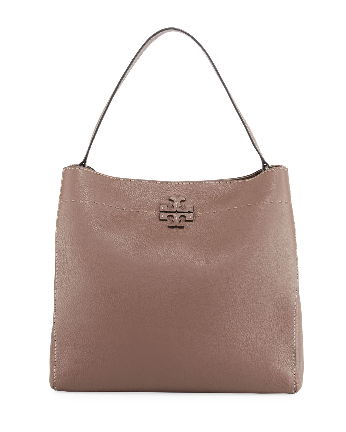 190dd2ae6c3d Tory Burch McGraw Pebbled Leather Hobo Bag