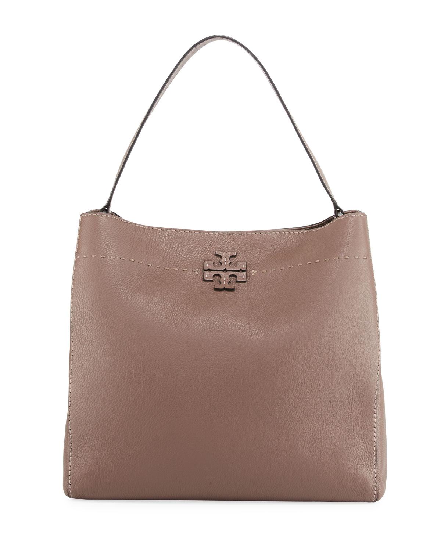 94e30cfe1ee Tory Burch McGraw Pebbled Leather Hobo Bag