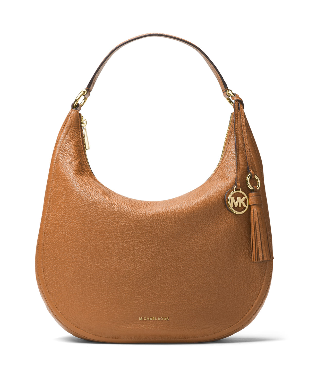 Lydia Large Leather Hobo Bag