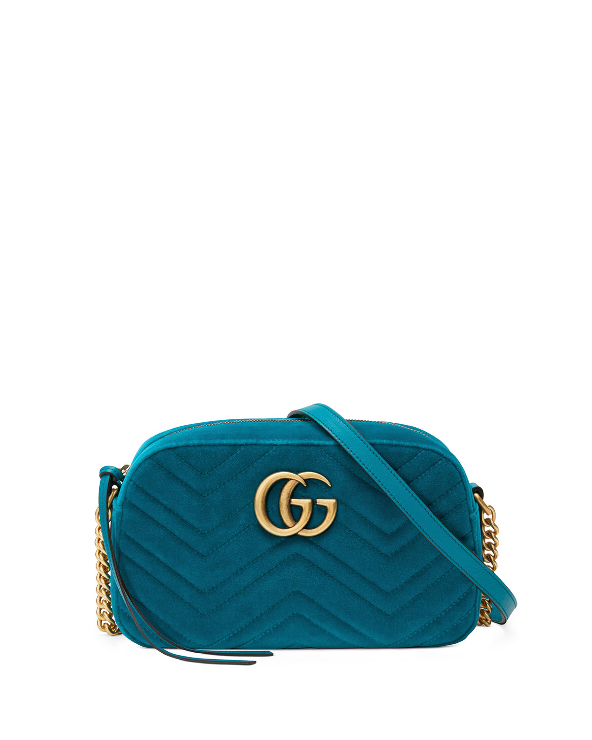 9b8a3a6e35d9 Gucci GG Marmont Small Velvet Camera Bag | Neiman Marcus