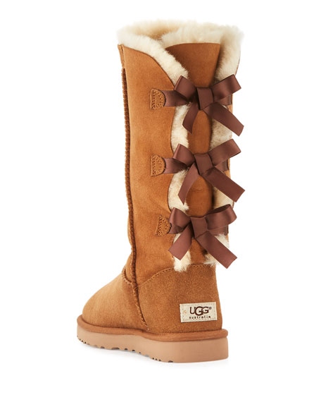 Bailey Bow Tall Shearling Fur Boots