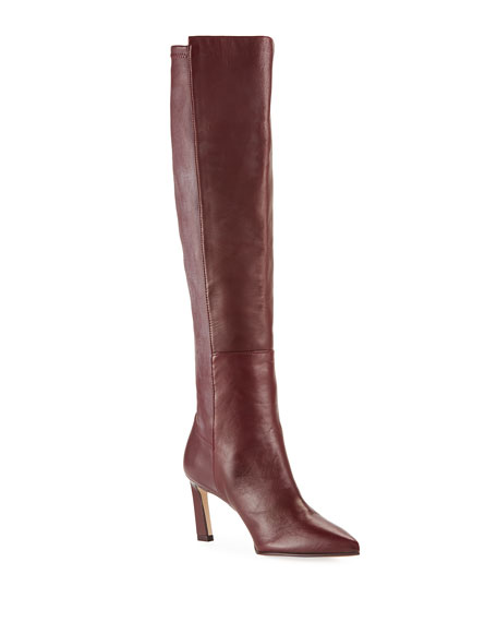 Image 1 of 1: Demi 75mm Leather Knee Boots