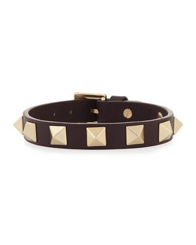 Small Rockstud Leather Bracelet