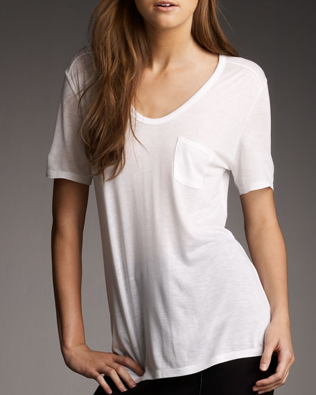 T by Alexander Wang VNECK POCKET TEE