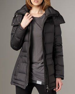 Burberry Brit Short Puffer Coat