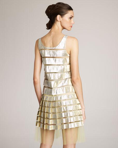 Metallic & Tulle Dress