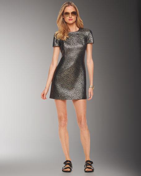 Michael Kors Ocelot Brocade Dress