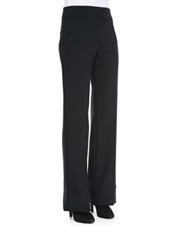 Armani Collezioni Wide-Leg Crepe Pants
