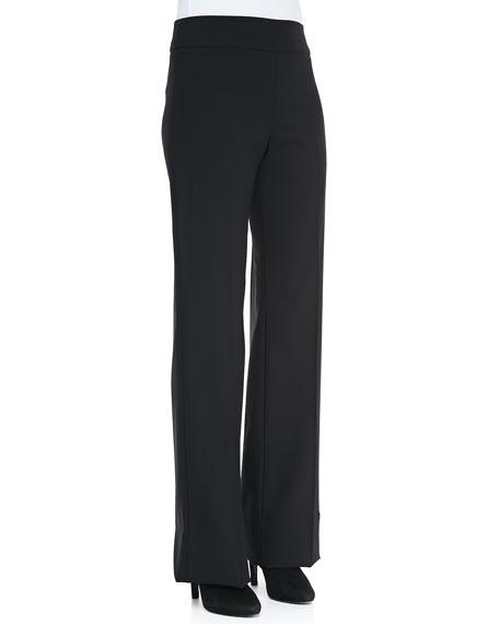 Armani CollezioniWide-Leg Crepe Pants