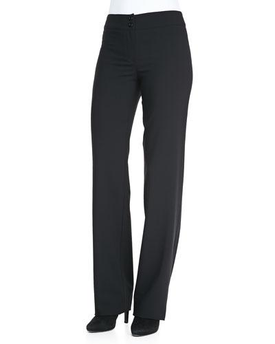 Armani Collezioni Featherweight Classic Straight-Leg Pants