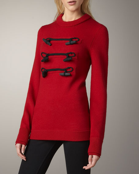 Toggle-Front Sweater