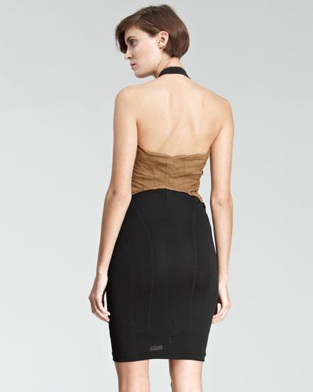 Colorblock Halter Dress