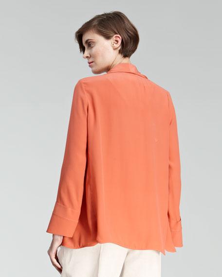 Crepe Shawl-Collar Jacket
