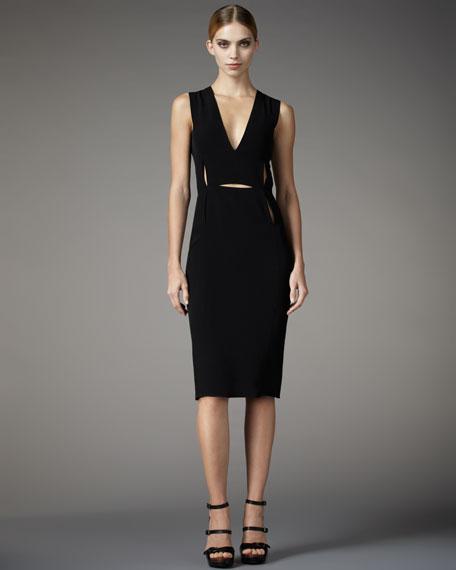 Cutout-Detailed Sheath Dress