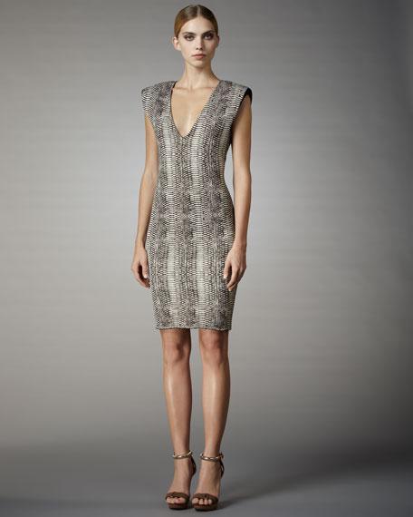 Strong Shoulder Sheath Dress