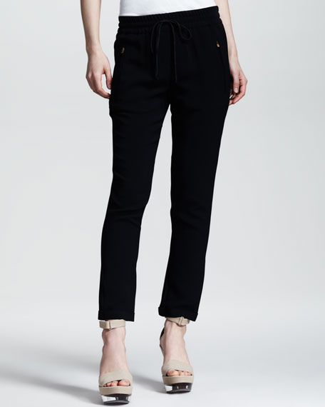 Cuffed Drawstring Pants