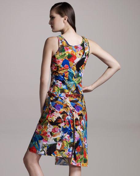 Floral-Print Bias-Seam Dress