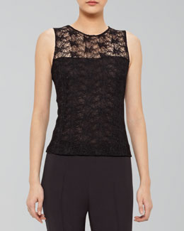 Akris Sleeveless Lace Top