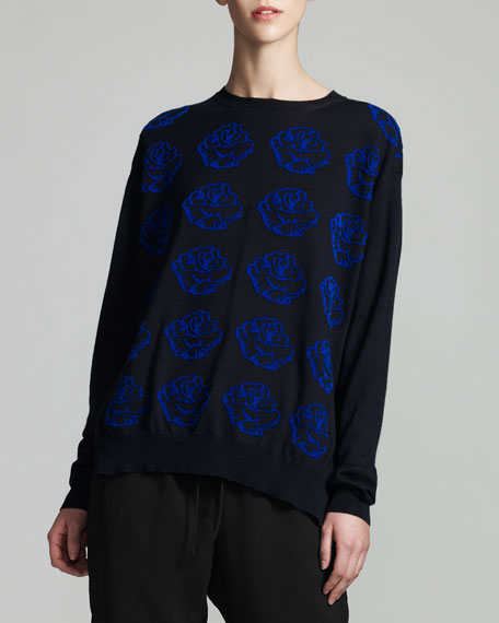 Rose-Knit Sweater
