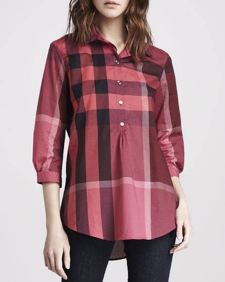Exploded-Check Tunic, Pink