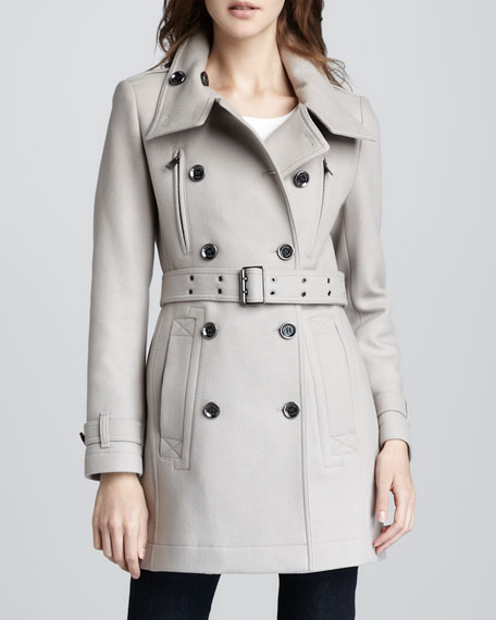 Wool-Blend Trenchcoat