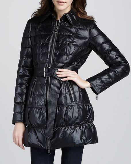 High-Gloss Puffer Coat