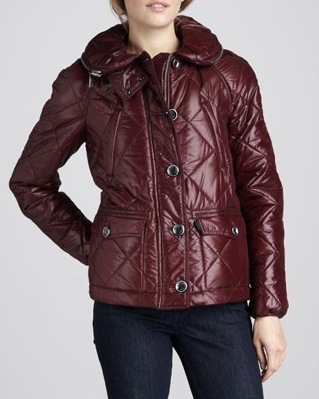 High-Gloss Puffer Jacket