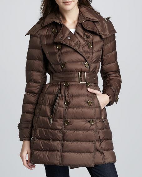 Lightweight Hooded Puffer Coat