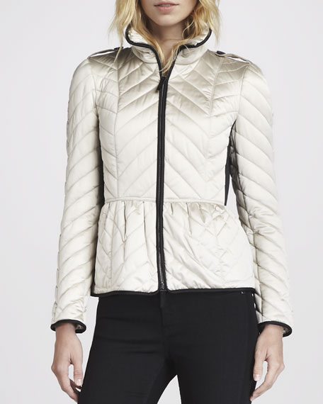 Chevron Puffer Jacket